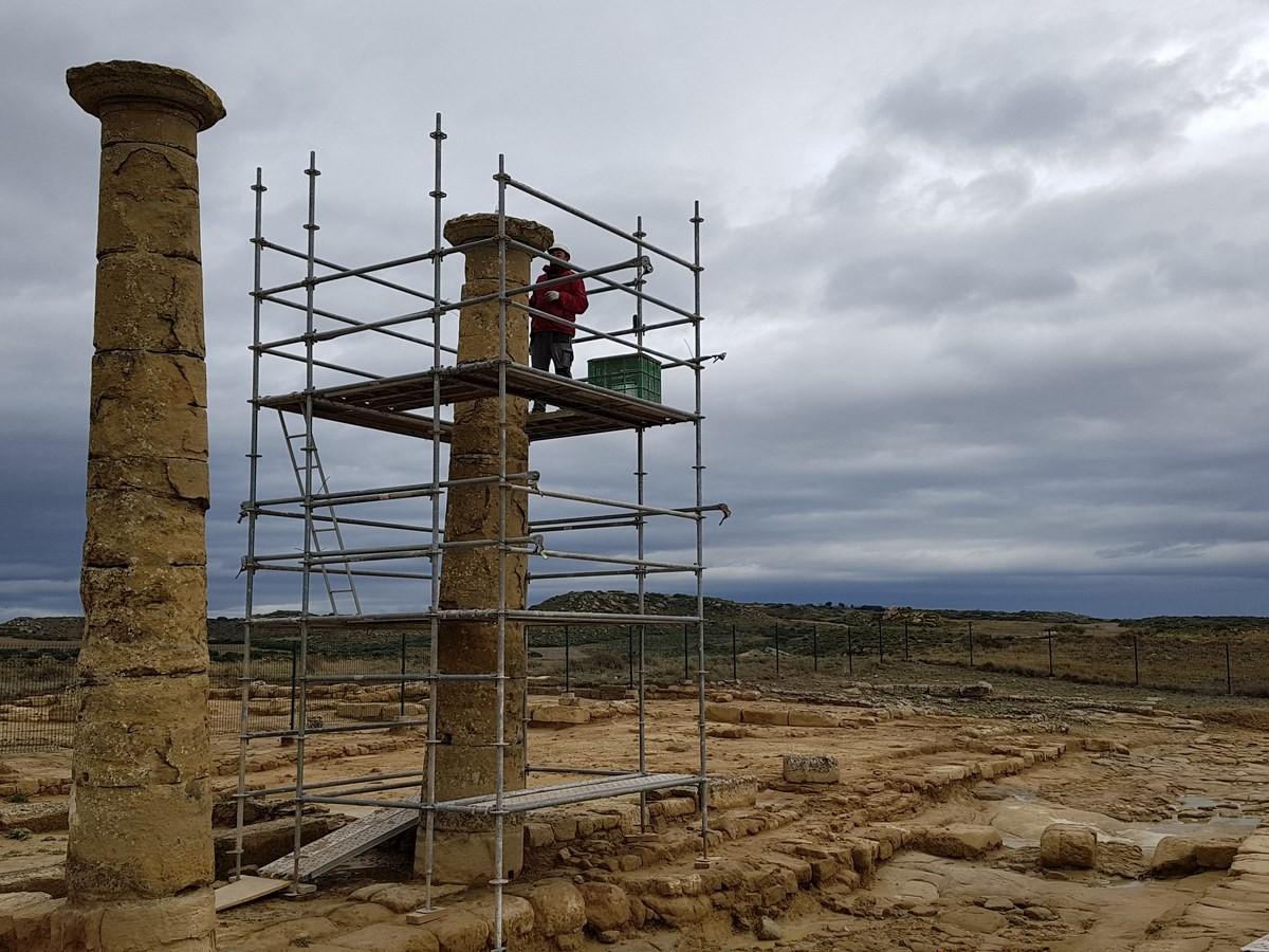 Se intensifican los trabajos de restauración en Los Bañales